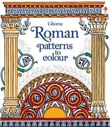 A gorgeous colouring book featuring patterns taken from the buildings, mosaics and jewellery of Ancient Rome. Children can colour mosaic portraits of the Emperor Justinian and Empress Theodora, the masks from a Roman play, a carved fresco of the gods and more. A new and interesting way of learning about the Roman Empire, and the men and women who lived within it - each page includes fascinating information about where each piece of art came from and how it was used. #colouring #romans