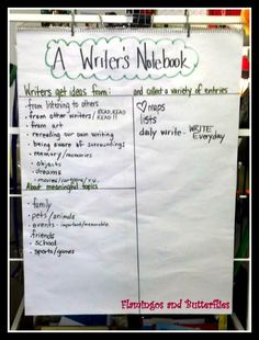 writer's workshop - launching writing workshop