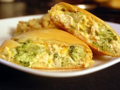 Chicken and Broccoli Crescent Pockets