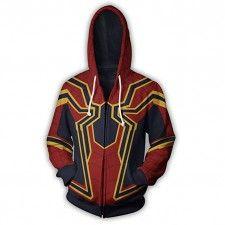 6cf7e520fb9 20% Off On Avengers Infinity War 2018 Spiderman RDJ Red Men s Hoodie Jacket  Knit Jacket