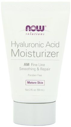 NOW solutions Hyaluronic Acid Moisturizer AM Fine Line Smoothing & Repair Mature Skin Net 2 fl. Gluten Free Makeup, Hyaluronic Acid Moisturizer, Healthy Skin Care, Health And Beauty, Conditioner, Beauty Tips, Beauty Products, Skincare, Paraben Free