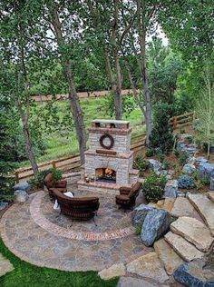 Love this! Great Landscaping Architecture for Small Yard Seating Area Project Difficulty: High MaritimeVintage.com