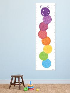 Caterpillar Height Chart / Growth Chart  for the modern childs bedroom on Etsy, $29.50