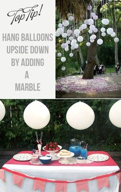 To Hang Balloons Upside Down For Weddings How To Hang Balloons Upside Down For Weddings! Great idea if you don't want to use heliumHow To Hang Balloons Upside Down For Weddings! Great idea if you don't want to use helium Engagement Party Planning, Engagement Party Decorations, Wedding Engagement, Diy Wedding, Wedding Flowers, Wedding Venues, Wedding Planning, Dream Wedding, Wedding Ideas