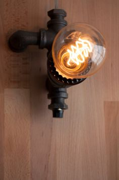 Industrial Pipe Lamp With Old Fashioned Bulb The by BoltLighting, $100.00