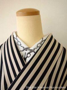 デザイナーズ半襟Eine Lilieさんのハサミモチーフの半襟です。とっても斬新!
