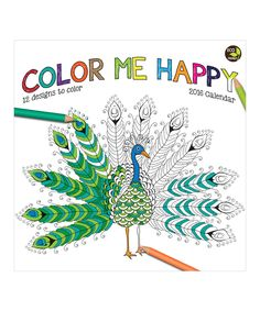 Look at this 'Color Me Happy' 12-Month 2016 Wall Calendar on #zulily today!