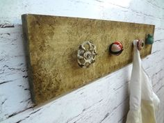 shabby chic coat rack drawer pull rustic hooks by ThePinkToolBox, $29.00