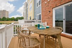 The deck off the kitchen is a place to have your morning coffee and enjoy the weather.