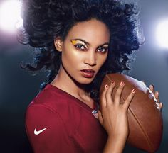 WASHINGTON REDSKINS fans, get your Covergirl #GAMEFACEon! (Get the Look at covergirl.com/NFL: Ink It! Eyeliner - Golden Ink, Flamed Out Shadow Pencil - Red Hot Flame, Flamed Out Shadow Pot - Blazing White, Outlast Stay Brilliant Nail Gloss - Snow Storm, Goldilocks, Wine To Five)