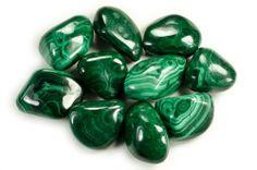 Tumbled Malachite Stones @ KnowFengShui.com