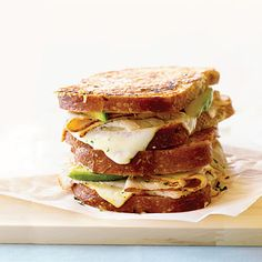 Golden Gate Grilled Cheese --- Like a Monte Cristo, only better. The parmesan crust is pure genius.
