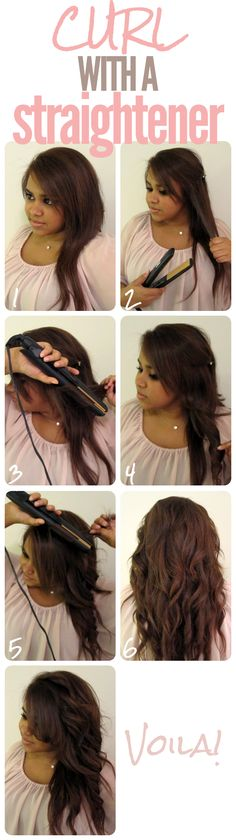 How to Create Curls Using a Flat Iron