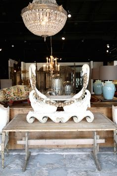 A touch of romance and whimsy in our Houston showroom. Georgia Brown Home by BD Antiques. http://www.bdantiques.com/