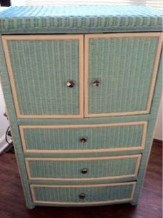 Spray painted wicker dresser.   My Style   Pinterest   Wicker ...