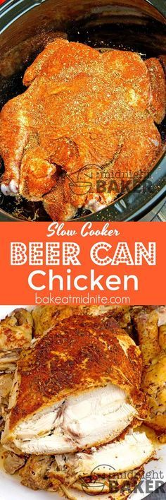 No grill or oven needed! Make this delicious beer can chicken in your slow cooker!