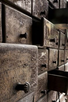 old drawer by Melih Can TOYGU, via Behance