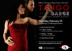 Our first milonga on Battersea Barge