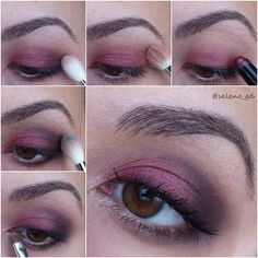 Purple plum makeup for green and hazel eyes #tutorial #evatornadoblog #howto