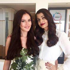 Fahriye Evcen and Aishwarya Rai Cannes Film Festival Loreal Paris  #lorealparis #cannes2015 #festivaldecannes #cannesdaguzellik