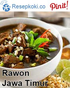 Rawon Khas Jawa Timu r Asian Recipes, Beef Recipes, Cooking Recipes, Heritage Recipe, Good Food, Yummy Food, Indonesian Cuisine, Shellfish Recipes, Western Food