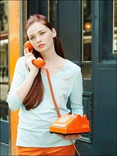 tangerine vintage phone