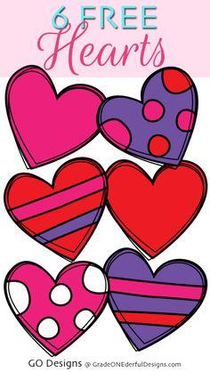 Download Free Doodle Heart Clip Art | Heart clip art, Free doodles ...