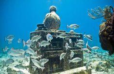 Découvrez l'incroyable paysage marin de cet artiste qui plonge ses sculptures au fond de l'océan