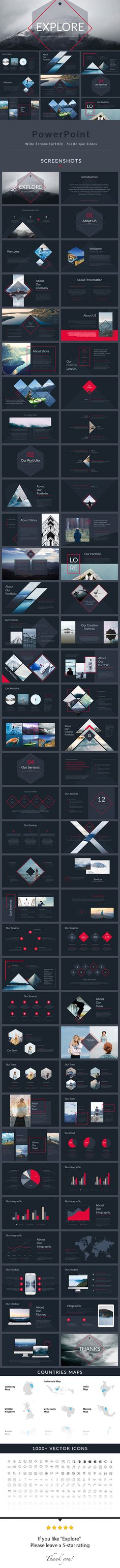 Explore - PowerPoint Presentation Template - Creative PowerPoint Templates Download here: https://graphicriver.net/item/explore-powerpoint-presentation-template/19892290?ref=classicdesignp