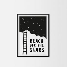 Reach For The Stars Kids Print