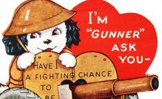 Free Printable Vintage Valentines over at Vintage Fangirl