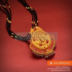 #Traditional #stylish #gorgeous #beautiful and #designer #gold #mangalsutra from our brand new collection.