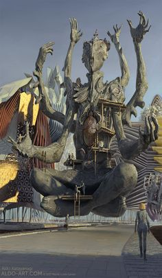 ArtStation - Monte Cook Games Invisible Sun - The Gheyal, Aldo Katayanagi