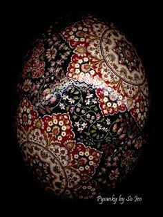 Kerman Stars Persian Ukrainian Style Easter Egg Pysanky By So Jeo