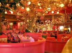 The Madonna Inn @Amanda Taylor   We can stay here on our trip out West! lol