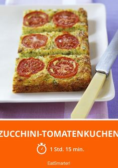 Zucchini cakes tomatoes - Courgette and tomato cake – smarter – time: 1 hour 15 minutes Pancake Healthy, Best Pancake Recipe, Zucchini Tomato, Zucchini Cake, Pizza Recipes, Mexican Food Recipes, Vegan Recipes, Tomato Cake, Eat Smarter