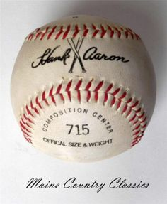 Vintage MacGregor Hank Aaron 715 Commemorative Model Baseball Home Run King | eBay