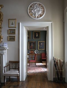 Explore These Stunning Images of Natural Paint In a Variety Of Rooms. Get A Feel For How Your Home Will Look With Natural Heritage Paint From Edward Bulmer. Georgian Interiors, Georgian Homes, Grey Interiors, Hallway Decorating, Decorating Your Home, Decorating Ideas, Hall Painting, Antique Interior, Country Style Homes