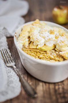 Apfel Reis Auflauf, apple rice casserolle, apple rice dish, healthy baking, sweet casserolle recipe, rice casserolle