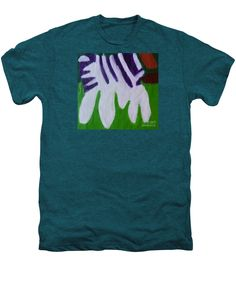 Zebra 2014 Premium Deep Teal Heather Designer T-Shirt by Patrick Francis.  Multiple sizes available.