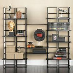 The Container Store Ebony Connections® Library Shelving