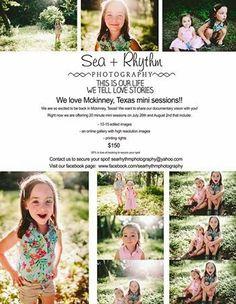 Mckinney, Texas mini sessions / Sea + Rhythm Photography