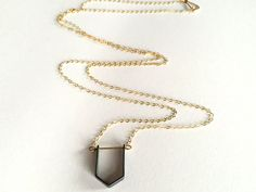 Little Paragon Neckalce  Geometric Necklace by NEWREFINEDBASICS