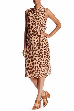 5a60c28e3916 NWT Equipment Tegan in Nude Multi Leopard Print Silk Midi Shirt Dress L   348  Equipment
