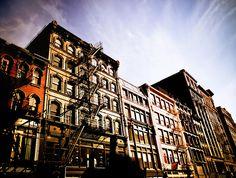 New York City - Soho Buildings in the Summer Sun