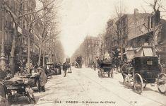 L'avenue de Clichy vers 1900 Paris France, 75017 Paris, Old Paris, Monuments, Old Pictures, Old Photos, Paris Vintage, Frozen In Time, Graphic Novels