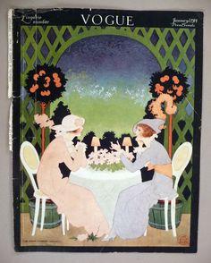 Vogue Magazine January 1914 Magazin Details about Vogue Magazine - January 1914 - front cover only Art Nouveau, Vintage Posters, Vintage Art, Vintage Vogue Covers, Motif Art Deco, Vogue Magazine Covers, Inspiration Art, Art Deco Illustration, Decoupage