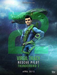 Thunderbird Are Go - 2 - Virgil Tracy - Poster by Jackardy on DeviantArt Joe 90, Go Tv, Thunderbirds Are Go, New Tv Series, Cult, Science Fiction, Super Cars, Sci Fi, Childhood