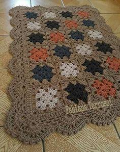 Image gallery – Page 613052568004784297 – Artofit Granny Square Crochet Pattern, Crochet Borders, Crochet Squares, Crochet Blanket Patterns, Filet Crochet, Crochet Doilies, Knit Or Crochet, Crochet Stitches, Crochet Baby