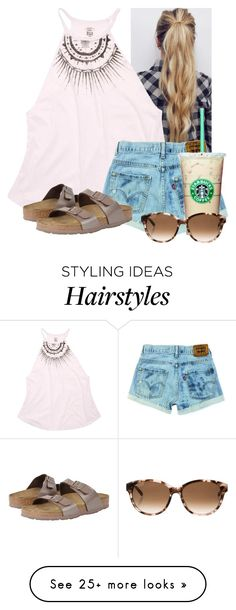 """Good morning!! Going to get breakfast in the hotel☺️"" by flroasburn on Polyvore featuring Billabong, Birkenstock and Kate Spade"